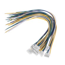 10 pz 4 Spille Mini Micro JST XH 2.54mm 24AWG Connettore Spina Con Fili 200mm(China)