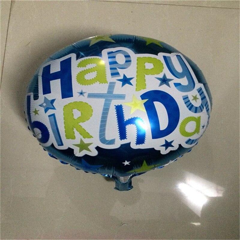 50pcs/lot Happy Birthday Balloons Carton Balloons 3 Colors Balloons Party Suppy