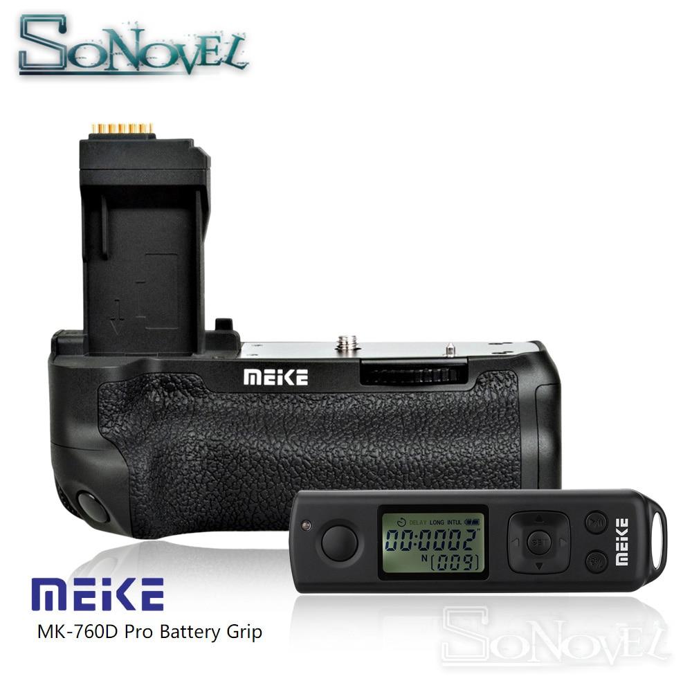 Meike MK-760D Pro Built-In 2.4g A Distanza Senza Fili di Controllo Battery Grip Verticale per Canon 750D 760D Rebel T6i T6s LP-E17 come BG-E18Meike MK-760D Pro Built-In 2.4g A Distanza Senza Fili di Controllo Battery Grip Verticale per Canon 750D 760D Rebel T6i T6s LP-E17 come BG-E18