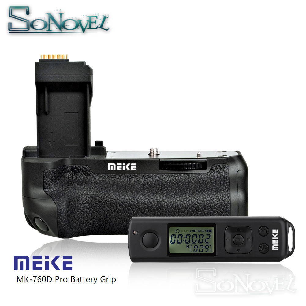 Meike MK-760D Pro Built-in 2.4G Wireless Remote Control Vertical Battery Grip for Canon 750D 760D Rebel T6i T6s LP-E17 as BG-E18 meike mk 760d vertical battery grip holder for canon 750d 760d lp e17 as bg e18