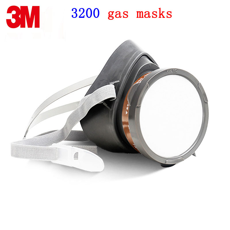 3M3200 respirator gas mask Genuine security 3M respirator mask against Organic steam Painting pesticide protective mask 3m 6200 6005 respirator gas mask genuine security 3m protective mask against formaldehyde organic vapor gasmaske