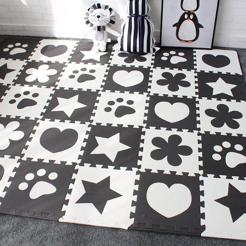 Baby Developing Mat For Newborns EVA Foam Carpet Gaming Mat For Children Playground Kids Rug With Border 30x30cm 10pcs Per Set