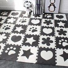 Детский развивающий коврик для новорожденных EVA покрытие из вспененного материала игровой коврик для детской площадки детский коврик с каймой 30×30 см 10 шт. в комплекте
