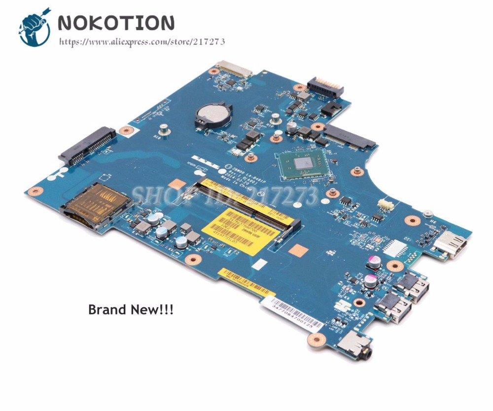 NOKOTION NEW For Dell inspiron 15 3531 Laptop Motherboard CN-0Y3PXH 0Y3PXH ZBW00 LA-B481P MAIN BOARD N3530 CPU Onboard DDR3 nokotion brand new cn 0y3pxh 0y3pxh for inspiron 15 3531 laptop motherboard zbw00 la b481p sr1w2 n3530 cpu onboard ddr3