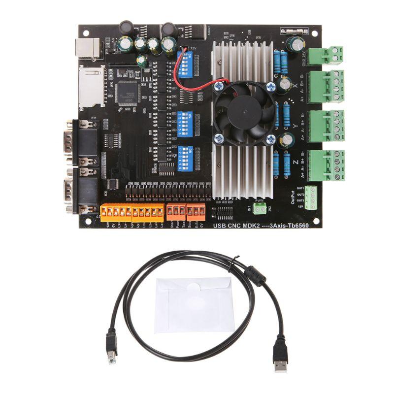 24 V 3.5A USB MDK2 CNC 3 axes tb6560 moteur pas à pas carte pilote pour Machine de gravure