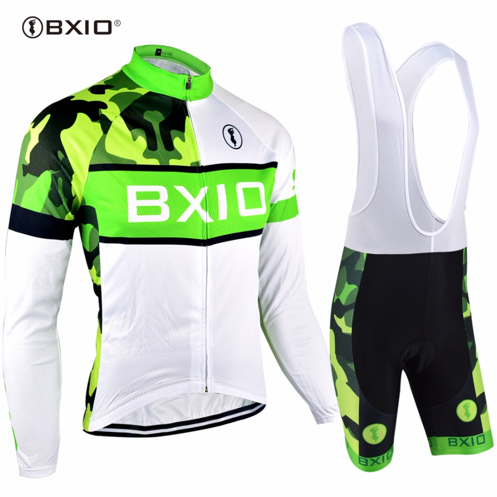 BXIO Long Sleeves Cycling Sets Pro Team Bike Clothing Summer Bicycle Clothes Cycling Sets Bretelle Ciclismo Ropa Ciclismo 072 ckahsbi men cycling jerseys sets ropa ciclismo pro short sleeves bike team suits 2017 hot sale cycling clothing mtb bicycle sets
