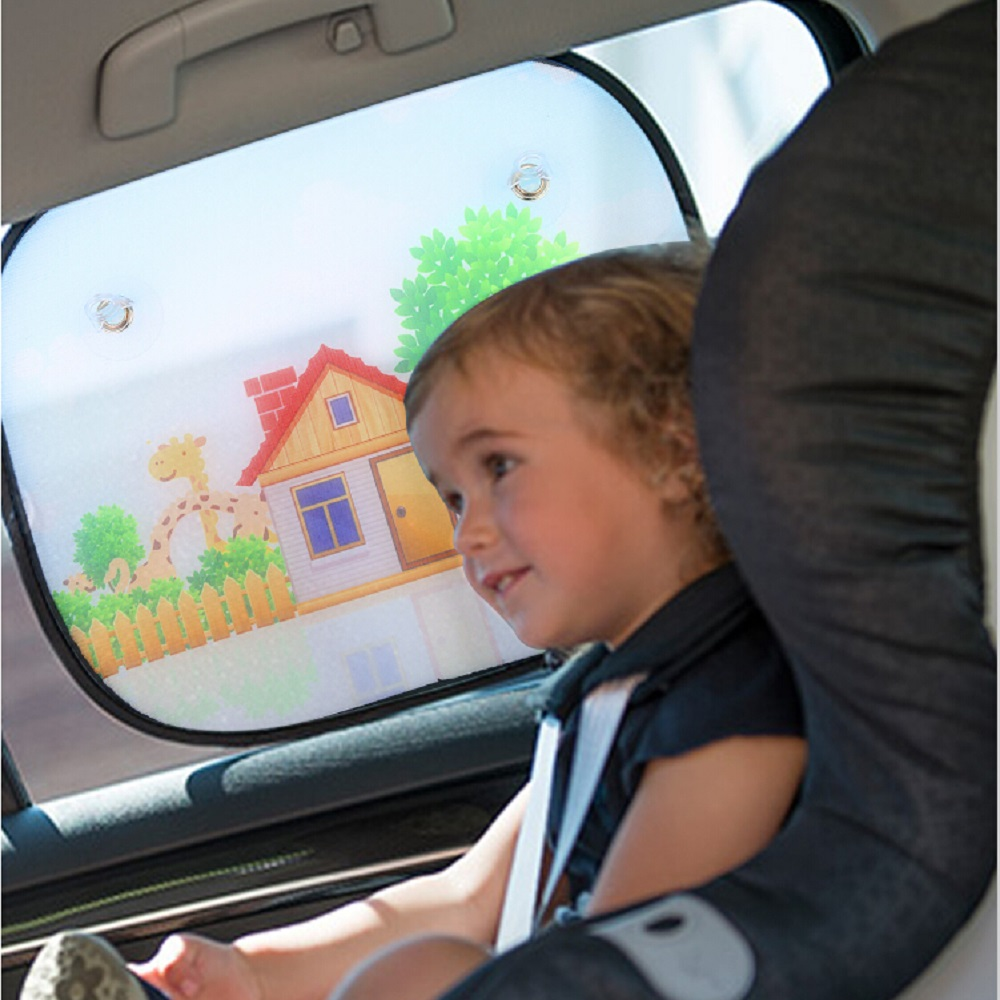 Infants and Kids 2 pcs Car Window Shades UV Protective Sun Shade Block for Baby