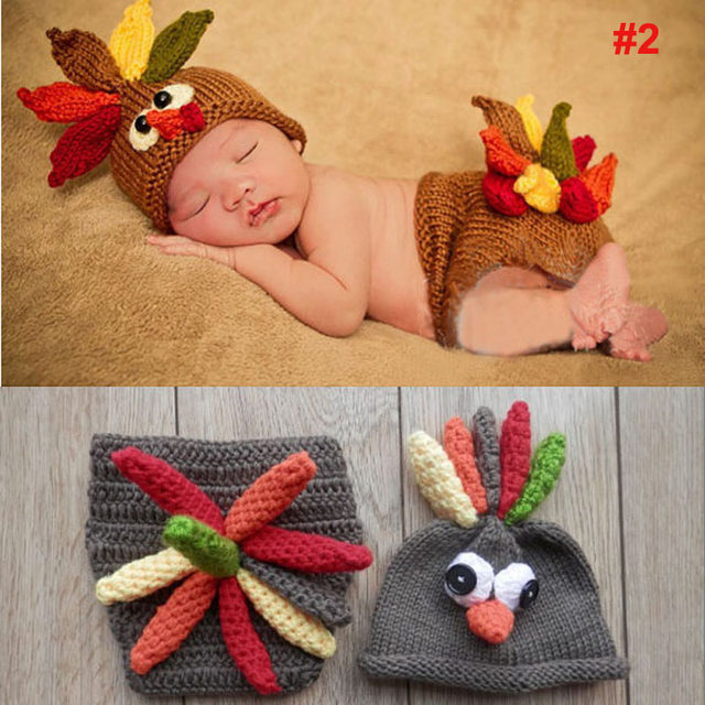 Online Shop Crochet Pattern Baby Hat with Cover Animal Style Newborn ...
