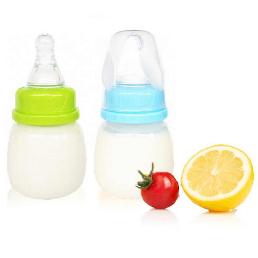 100% جديد تماما تغذية الطفل 0-18 أشهر المغذية 60 مللي PP التمريض عصير الحليب صلابة صغيرة زجاجة زجاجات الطفل والحلمات