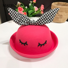 MAERSHEI Cartoon Ears Hat Fedoras Children Kids Cute Fashion Baby Cat Solid Color For 3-8 Years Gift
