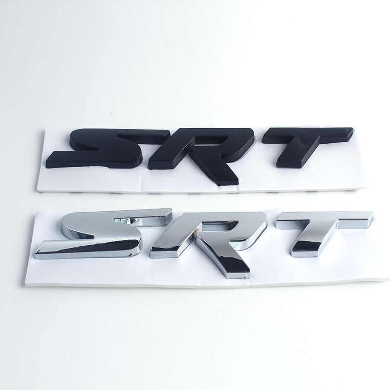 Insigne d'emblème de coffre arrière d'autocollant de SRT en métal pour l'ypsilon de Crossfire d'aspen de Chrysler pour la Jeep de Dodge Cherokee Wrangler ZJ WJ WK XK KJ