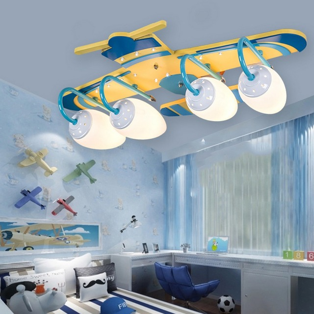 Cartoon modern ceiling lamp helicopter shape ceiling light children eye protect lighting decor flush mount lighting