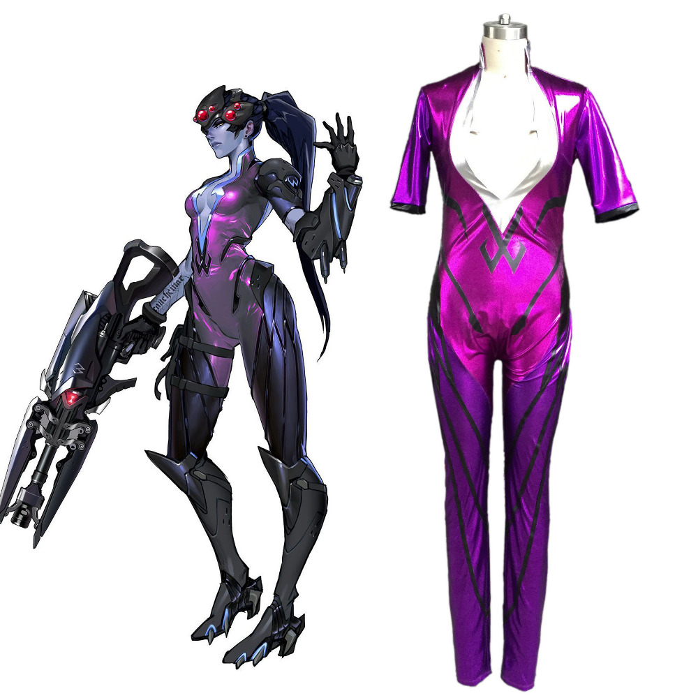 OW Juego AmElie Lacroix Widowmaker Cosplay Videojuegos Cosplay Traje ...