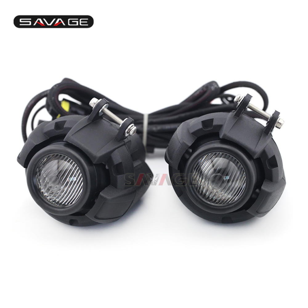 цена на Driving Aux Lights Fog Lamp Assembly For SUZUKI DL 650/1000 V-Strom For HONDA CRF1000L Motorcycle Accessories Front Head Light