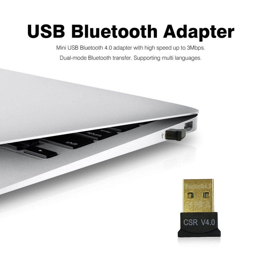 Mini USB Bluetooth Adapter CSR Dual Mode Wireless Bluetooth V4.0 Dongle Transmitter For Windows 7 8 10 PC Laptop