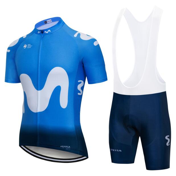 2018 Movistar Team Pro Cycling Jerseys Set Summer Short Sleeve Bicycle  clothes 9D Gel Pad Ropa 9145fdfc0