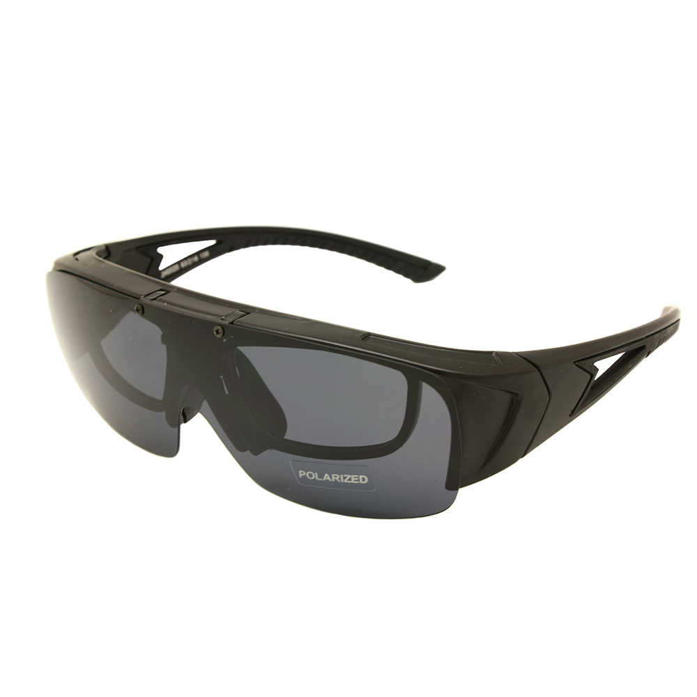 a37e232f7da0 Polarized Fit Over Glasses Lens Cover Flip Up Wear Over Prescription Glasses  Rx Insert Outdoor Sports