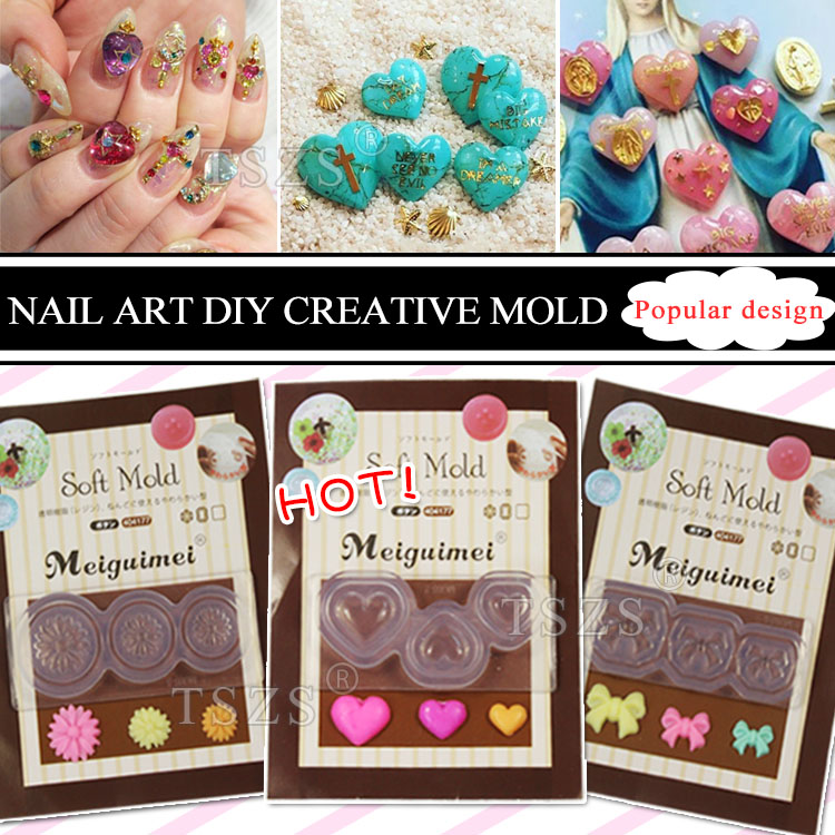 Aliexpress Buy 1pcslot 3d Decortive Acrylic Nail Art Mold