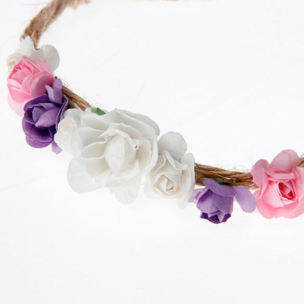 Hot Sale Girls Headwear Adjustable Flower Crown Flower Headband