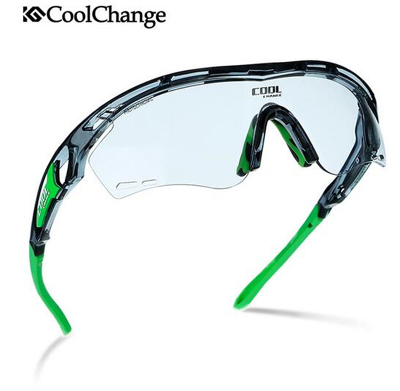 CoolChange Photochromic Polarized Cycling Glasses MTB Sunglasses Cycling Goggles Bicycle Glasses Bike Sunglasses Sport Men Women obaolay outdoor cycling sunglasses polarized bike glasses 5 lenses mountain bicycle uv400 goggles mtb sports eyewear for unisex