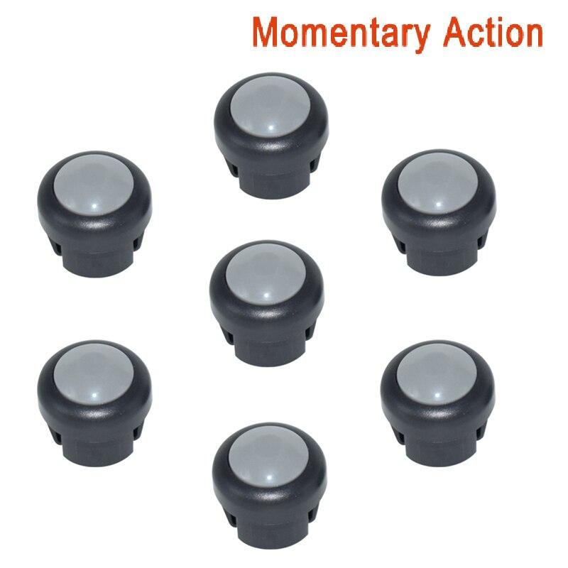 7 x кнопка включения мотоцикла сигнал поворота Высокий Низкий Луч Электрический старт Kill ON OFF кнопки мгновенного действия с фиксацией - Цвет: Gray B