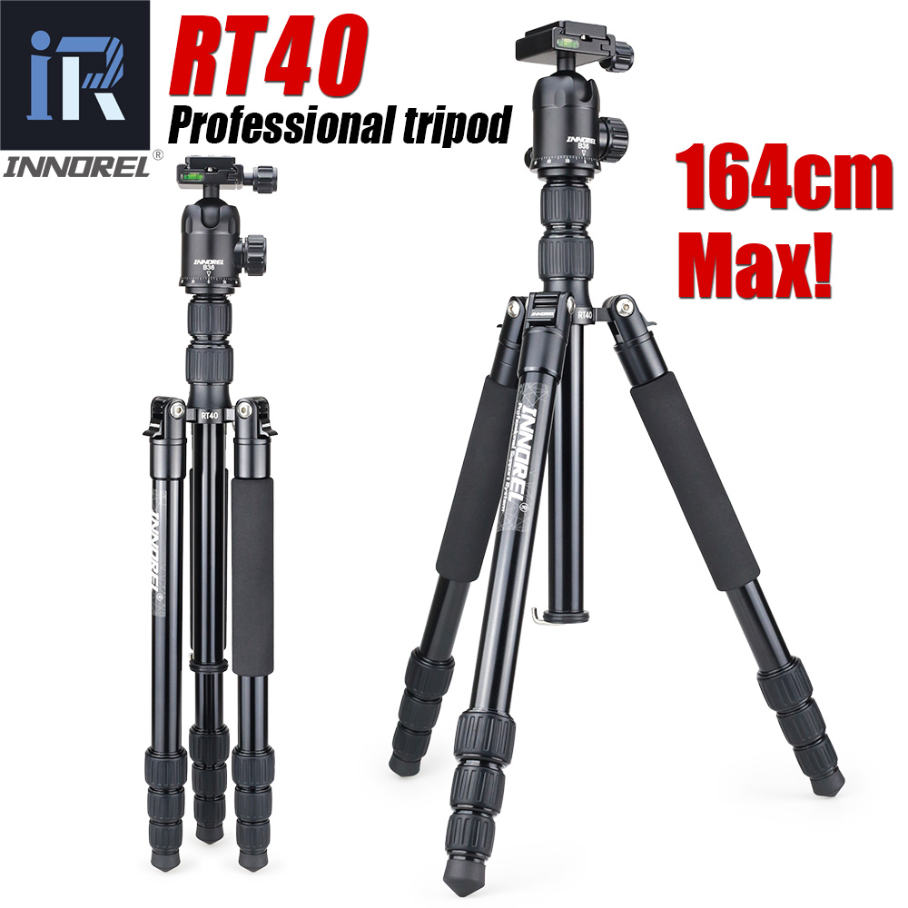 RT40 Professional Travel tripod monopod Compact Aluminum camera stand Panoramic Ball Head for Nikon Canon Sony DSLR Camera diat professional carbon fiber tripod professional travel tripod monopod compact aluminum camera stand for dslr camera
