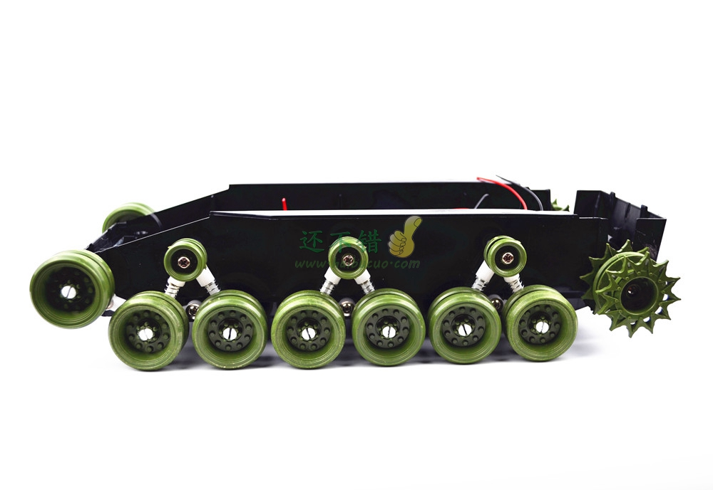 DIY 85 Light shock absorption Plastic Tank Chassis with Rubber Crawler belt Tracked Vehicle Big Size diy 85 light shock absorption plastic tank chassis with rubber crawler belt tracked vehicle big size
