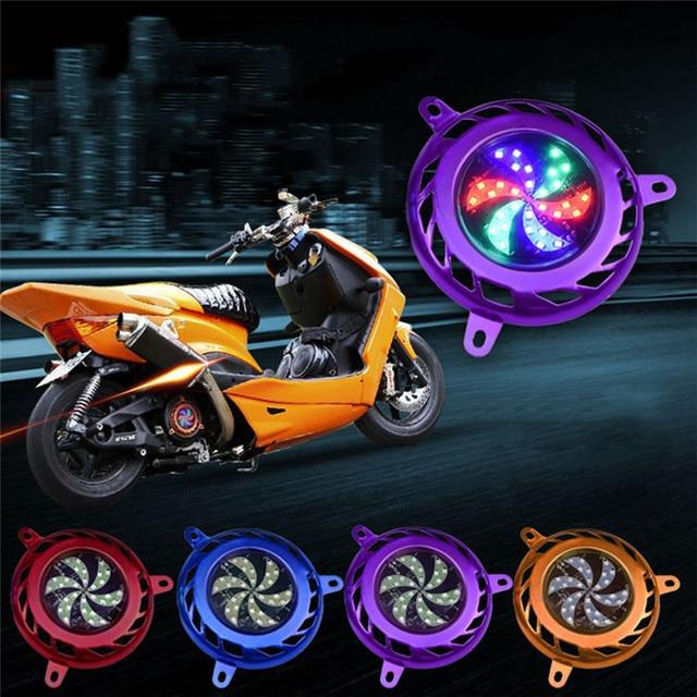 Motorfiets Scooter Motor Led verlichting Koelventilator Cover Frame ...