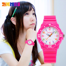 SKMEI 1043 Children Fashion Casual Watches Boys Hours Girls Students Wristwatches Quartz Waterproof Rubber Jelly Kids Clock