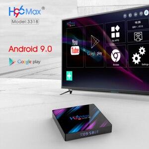 Image 5 - Inteligentne pole TV Android 9.0 H96 MAX RK3328 WIFI 4G 32G H.265 Google Play dekodery Youtube IPTV Mini inteligentne pudełko kanada francuski