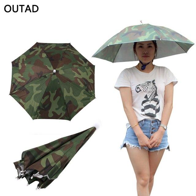 Al por mayor 69 cm portátil al aire libre sombrilla sombrero plegable  paraguas unisex Pesca senderismo d742fe0193b