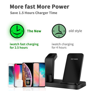 Image 5 - Apple watch charger 3 in 1 충전 도킹 스테이션 브래킷 iphone 11 xr x 8 7 6 무선 qi dock 용 크래들 스탠드 폰 홀더