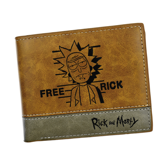 New Design Anime Comics Short Wallet Rick and Morty / Gravity Falls / Yuri on Ice / Five Nights At Freddy's Purse Card Holder