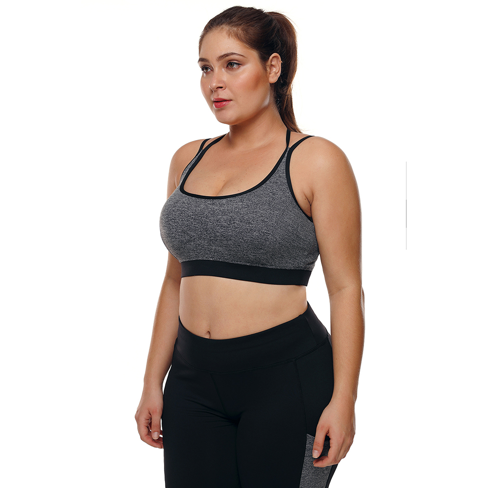 6bbedd18e0 2019 Sports Bra Plus Size Top For Fitness Big Size Female Sport ...