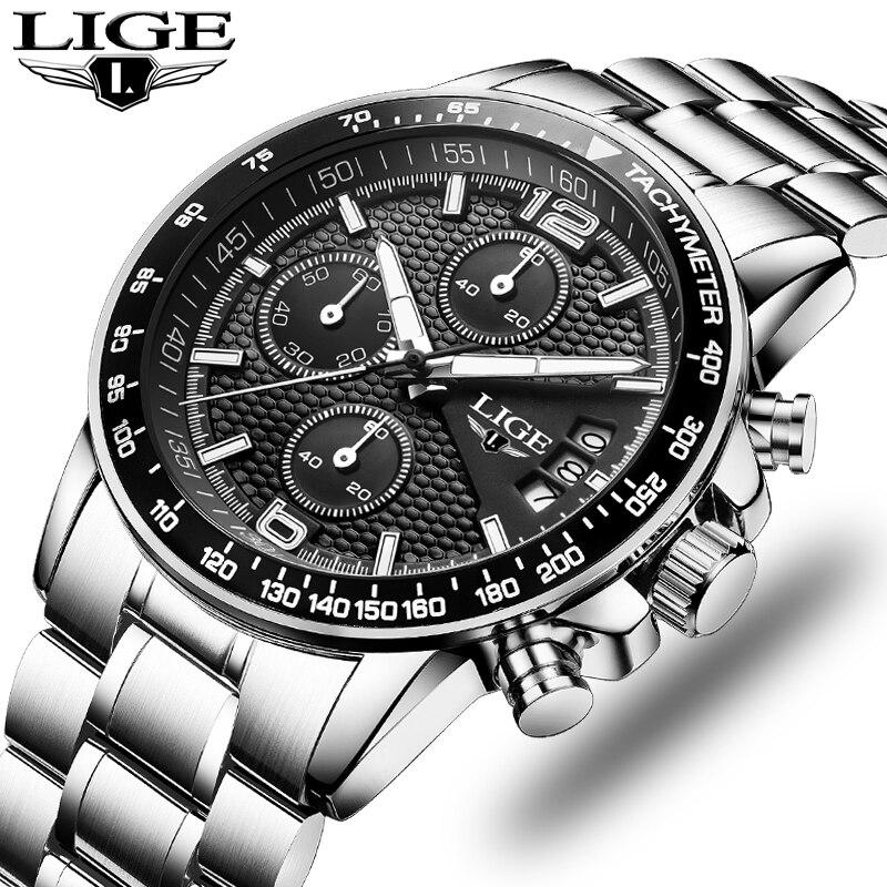 2018 Watch Men LIGE Mens Watches Top Brand Luxury Full Steel Business Quartz Casual Waterproof Sport Watch Relogio Masculino lige horloge 2017