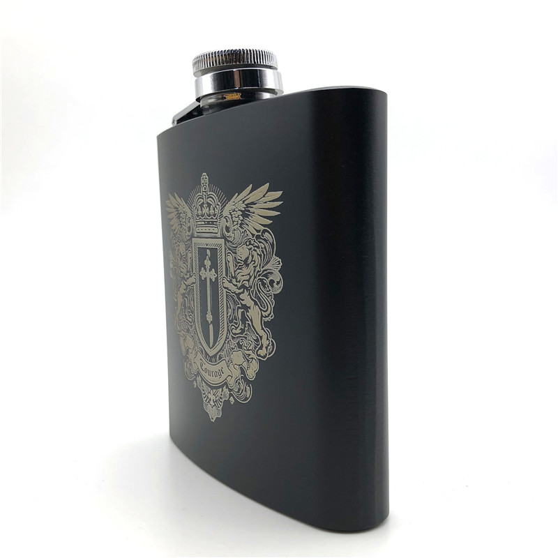 Personalised Laser Engraved 6oz Stainless Steel Hip Flask Rugby Player Design