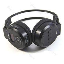Black Sport MP3 Player LCD Foldable Wireless Headphone Headset FM Radio TF Card