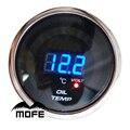 """Oferta especial Logotipo Original de 52mm de la Lente de Humo 2 """"20 LCD Medidor De Temperatura Del Aceite Para El Coche de Motor Paso A Paso"""