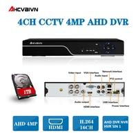 5 IN 1 4MP AHD DVR NVR HVR CCTV 4Ch 8Ch Hybrid Security DVR Recorder Camera Support AHD4MP IP 4MP Camera