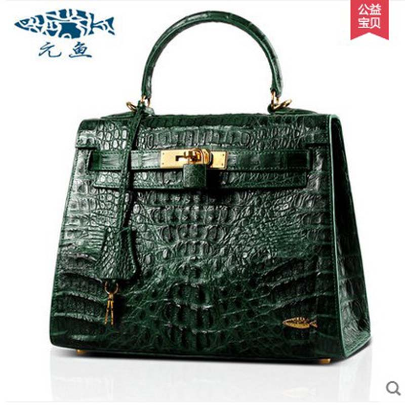 yuanyu 2017 new hot free shipping Crocodile women handbag wrist bag big  vintga high-end  single shoulder bags luxury women bag yuanyu 2017 new hot free shipping crocodile handbag leather handbag handbag lock high capacity crocodile leather women bag