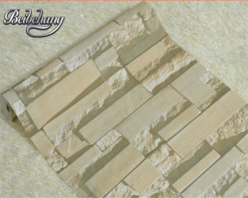 Beibehang Retro style brick wall paper roll natural brick pattern effect 3d wallpaper home decoration wallpaper for walls 3 d shinehome abstract brick black white polygons background wallpapers rolls 3 d wallpaper for livingroom walls 3d room paper roll