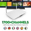 Comercio al por mayor Android Smart Tv Set Top Box RK3128 Android 4.4 con 3 Meses de Suscripción Iptv IUDTV Envío Europa 1700 IPTV canales
