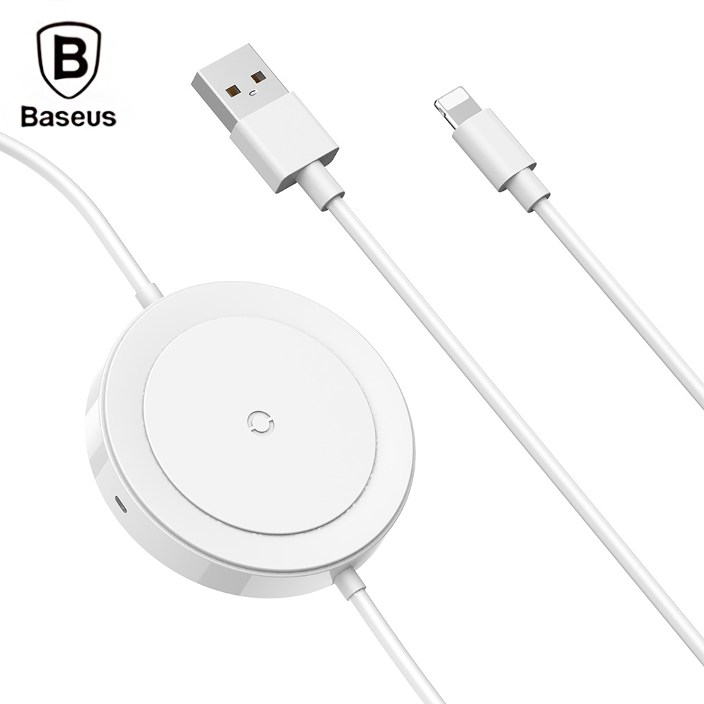 Baseus BSWC P15 8 Pin Cable Wireless Charger 5W Data