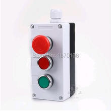 цена на NC Emergency Stop NO Red Green Momentary Push Button Switch Station 440V 10A