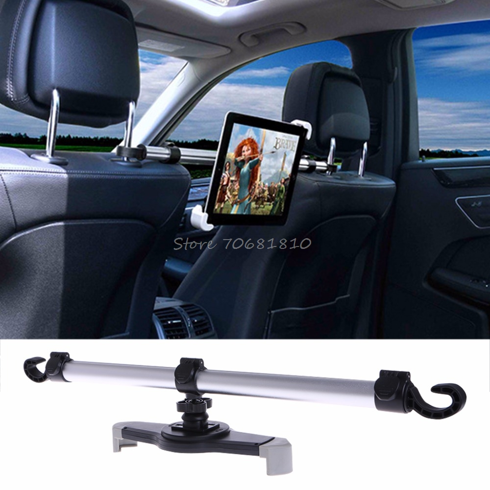 360 Degree Rotation Universal Aluminum Alloy Car Back Seat Mount Stand Holder For Tablet 7-11 Drop Shipping