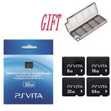 Cartão de memória para sony ps vita, psv 1000 2000 4g 8g 16g 32gb 64gb cartão de memória psvita original, com caixa de armazenamento de presente