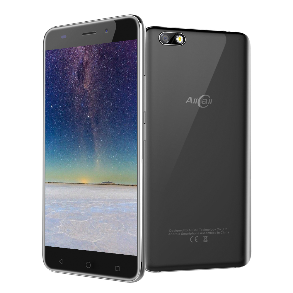 AllCall Madrid Android 7.0 Mobile Phone 5.5'' IPS 8MP MTK6580A Quad Core 1GB RAM 8GB ROM Dual Cameras 3G Smartphone OTG 2600mAh