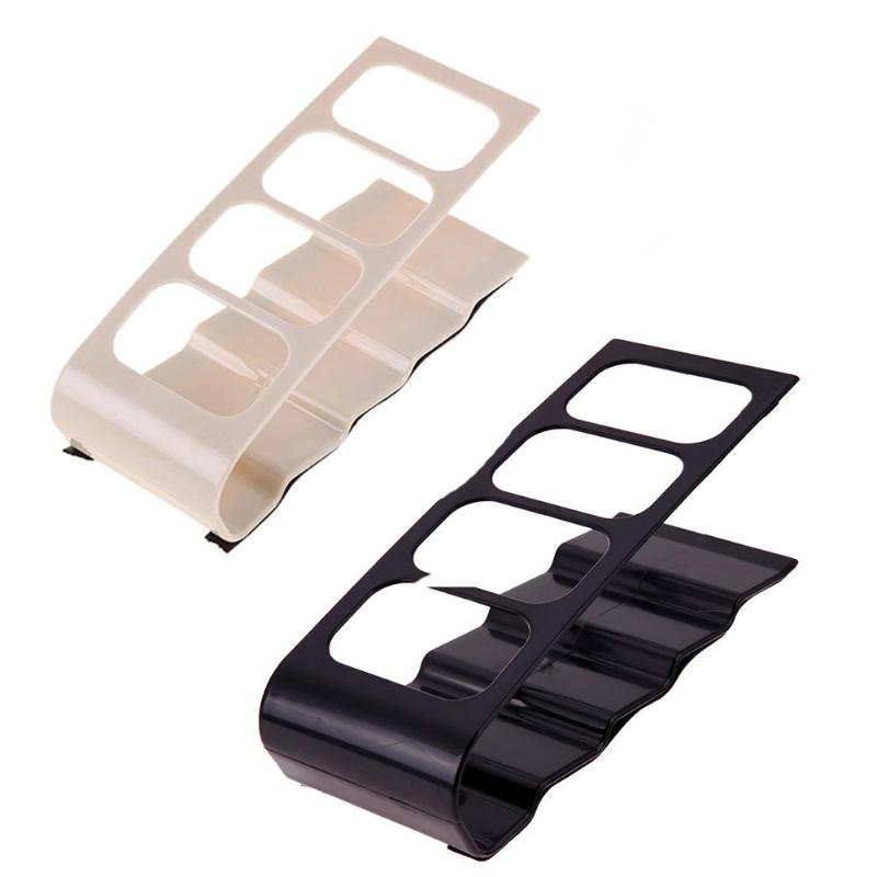 4 Cell Plastic TV DVD Remote Control Organizer Phone Holder Storage Stand Desk File Tray School Office Supplies
