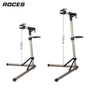 Image 4 - Support de réparation de vélo professionnel et pliable en alliage daluminium, support de travail réglable pour mécaniciens à domicile et entretien