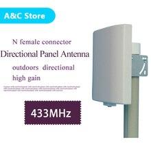 UHF antena direccional antena 433 MHz 423 ~ 443 MHz Para Montaje En Pared Panel de Conexión Plana Antena de alta ganancia envío libre